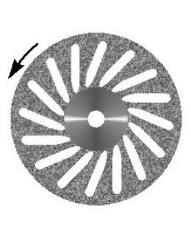 Диск алмазный Косая прорезь, диаметр 22мм. (1шт.), Агри