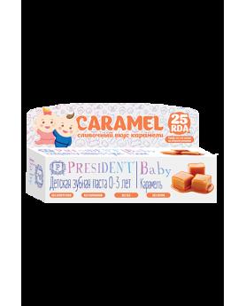 Детская зубная паста PresiDENT Baby 0-3 со вкусом карамели (без фтора) 30мл