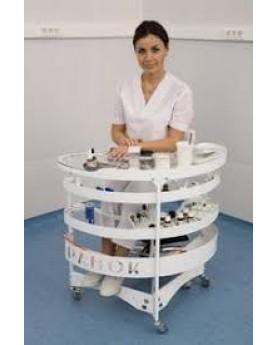 Столик ПАНОК-1 мобильный медицинский овальный