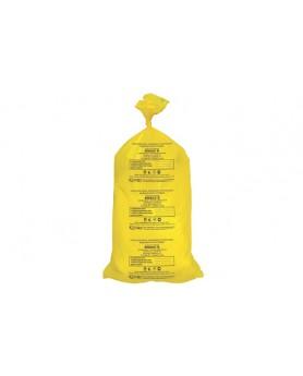 Пакет сигнальный желтый класс Б (600*1000) 55л, 1 шт.