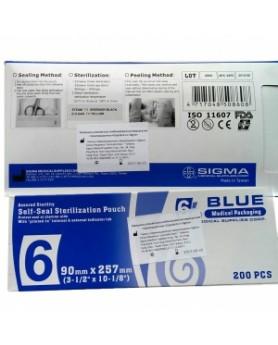 Пакет (135х283мм) бумага пластик Sigma Дисподент 200 шт.