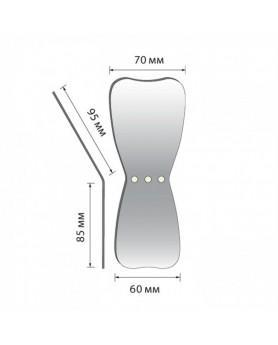 Зеркало для дентальной фотографии окклюзионное широкое, родиевое покрытие (L)