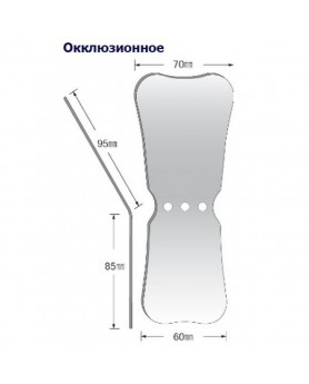 Зеркало для дентальной фотографии окклюзионное, родиевое покрытие