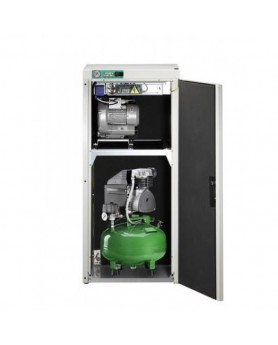 Компрессор KD 124 AB комбинированный безмасляный  для одной стоматологической установки с отсасывающим агрегатом, с кожухом, с ресивером 24 л (60 л/мин)