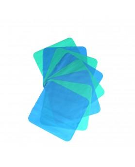 """Листы латексные """"Медента"""" для изоляции полости рта, голубая/тонкая"""