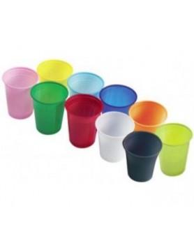 Стаканы пластиковые, 100 шт. (EURONDA, Италия) лиловые