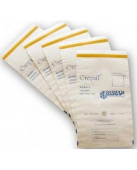 """Пакет (150х220мм) бумажный белый влагопрочный """"СтериТ"""" 100шт."""