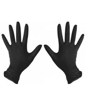 Перчатки L 8-9 DISPODENT нитрил черные 100 шт.