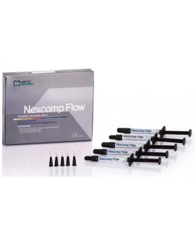 Некскомп Nexcomp Flow набор (5 шприцов по 2 гр. и 10 одноразовых наконечников)