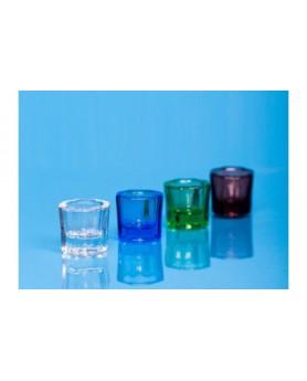 Емкость стеклянная мерная, неградуированная зеленая (тигель) 1шт. JNB