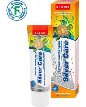 """Детская зубная паста с серебром от 0 до 3 лет """"Silver Care"""" экологичная защита 30 мл"""