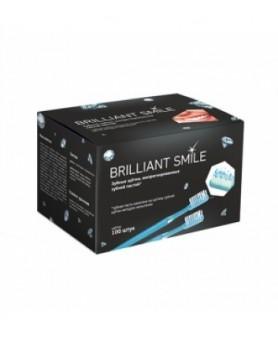 Щетка зубная одноразовая с пастой 100 шт. Brilliant Smile
