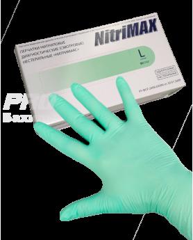 Перчатки L 8-9 NitriMax нитрил 100шт. зеленые