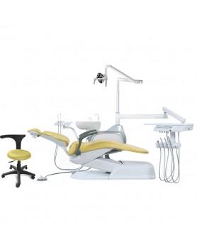 Стоматологическая установка AJ 11, цвет №6 (желтый) со встроенным электромотором и сенсорным светодиодным светильником