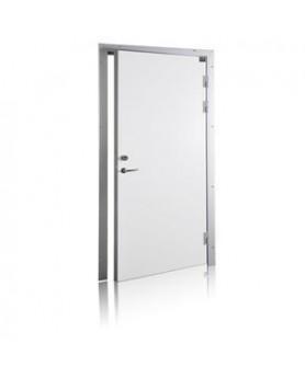 Дверь рентгенозащитная однопольная ДР-1¶Строительный проём 900х2100 (h) мм¶Размер готовой конструкции (по коробке) 870х2080 (h) мм¶Направление открывания (по выбору)¶Окраска порошковой краской, цвет RAL (по выбору)¶Врезной сувальдный замок «Гардиан 30.11»
