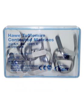 Матрицы Керр 1001С металические контурированные, 0,05мм,30шт.