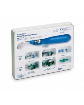 SuperMat™ Assorted Kit набор ассорти 1 инструмент для натяжения SuperLock™, 14 матриц Adapt™ SuperCap™ из стали в ассортименте, 6 матриц Adapt™ SuperCap™ из прозрачной пластмассы в ассортименте