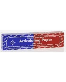 Артикуляционная бумага, ВК 80, 200 листов, синяя/красная, 40мкм, BAUSH