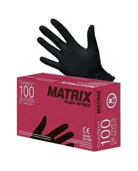 Перчатки L 8-9 MATRIX нитрил 100шт. черные