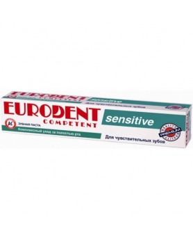 Зубная паста Competent sensitive 75мл