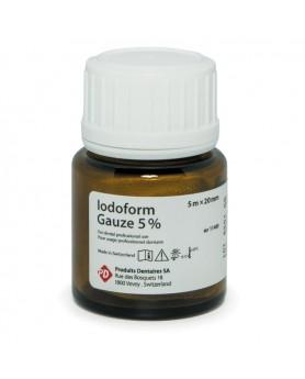 Повязка йодоформная для лечения постэкстракционных лунок Iodoform Gauze 5х20мм 5% PD