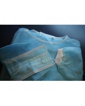 Комплект одежды хирурга №1 (маска, бахилы, колпак, халат)