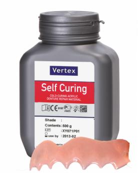 Вертекс Vertex Self Curing, порошок, цвет №10 полупрозрачный розовый с прожилками, 500гр