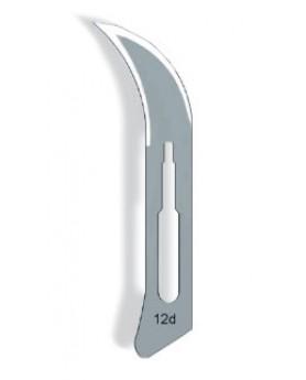 Лезвия для скальпеля 12D, стерильные, одноразовые,Тринон
